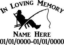 In Loving Memory Fishing Nature Custom Vinyl Decal Sticker Car Truck Home Window