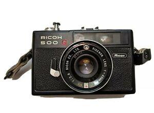 BLACK Ricoh 500G Rangefinder Film 40mm f2.8 Tested, *Rangefinder Out of Sync*