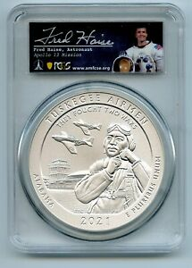 2021 P 25C Tuskegee Airmen Silver 5oz Quarter PCGS SP70 Fred Haise