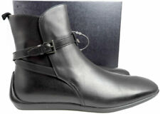 PRADA men's Ankle Boots Buckles Shoes 9.5 Black Leather Combat Sneakers
