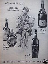 PUBLICITÉ 1958 PORTO CROFT REMY MARTIN HAIG'S LE CHOIX DU ROY - ADVERTISING