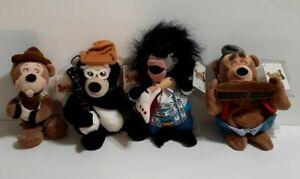 Disney Critter Country Bear Jamboree Bean Bag Plush Lot of 4 Fred Ted Zeke Lips