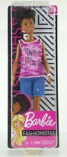 Barbie Fashionistas Doll #128 'Good Vibes Only' Pink Camo Tank Blue Shorts