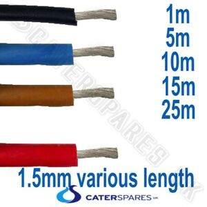 OVEN FIRE HEAT RESISTANT APPLIANCE CABLE SILICONE SIAF WIRE 1.5MM VARIOUS LENGTH