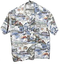Matt Rider Laguna Beach Hawaiian Shirt USA cotton Surf Board Woody Size XL
