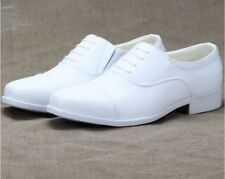 Mens Oxford Dress Formal SHoes Cap Toe Wedding Groom White Shoes Casual Business