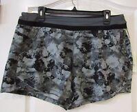 Tangerine Brand Active Short-Wide Waist  Gray Floral  Women's Sz XXL NWT NICE!