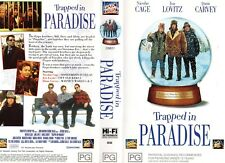 TRAPPED IN PARADISE - Cage -VHS - PAL -NEW - Never played! - Original Oz release