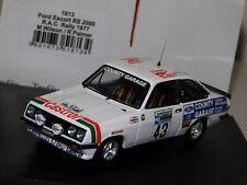FORD ESCORT RS2000 RAC RALLY 1977 #43 WILSON / PORTER TROFEU 1813 1:43