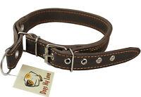 """Adjustable Schutzhund 17.5""""- 21"""" neck Martingale Genuine Leather Dog Collar"""