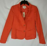 LOFT Women's Size 2P Petite Orange Two Button Long Sleeve Blazer New with Tags