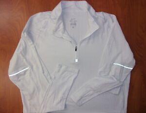 Nike Running Dri-Fit Performance Stretch Reflective 1/2 Zip Pullover Shirt L