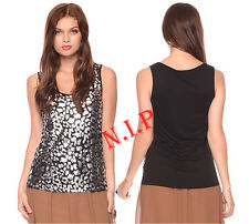 Forever21 Metallic Leopard Foil Tank Club wear Street Party Evening Goth Emo Top
