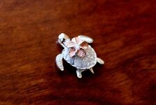 Hawaiian 925 Sterling Silver Jewelry PLUMERIA TURTLE Pendant Necklace SP21908