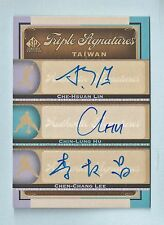 CHE-HSUAN LIN CHIN-LUNG HU CHEN-CHANG LEE 2012 SP SIGNATURE TRIPLE AUTO TAIWAN