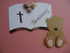 LARGE OPEN BOOK DIE CUTS FOR CHRISTENING WEDDING BIRTHDAY CARD TOPPERS