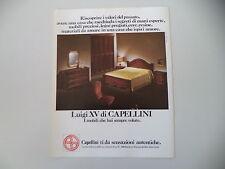 advertising Pubblicità 1975 MOBILI CAPELLINI - ROTTOFRENO (PIACENZA)