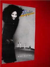 CHAKA KHAN & RUFUS VINTAGE 1977 R&B/SOUL POSTER EX COND
