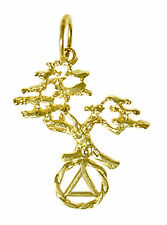 AA Alcoholics Anonymous Jewelry, Symbol Pendant, #462-5 Med. Size, 14k Gold