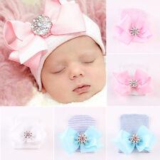 joli nouveau né bébé nourrisson fille confortable nœud Hôpital casquette bonnet