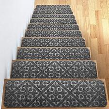 Carpet Stair Treads Set Of 13 Non Slip/Skid Rubber Runner Mats Or Rug - Indoor X