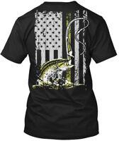 American Bass Fisher Hanes Tagless Tee T-Shirt