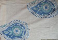 3 Yard Indian Hand Block Print Pure Cotton Fabric Sanganeri LooseVintage Running