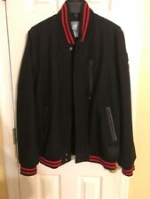Men's Avirex  Nike Coat Size Large In Black & Red -ZIP & Button up