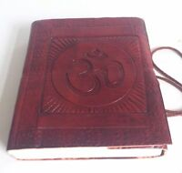 Various sizes Large Diary Leather Recycled OM Embossed Notebook Journal