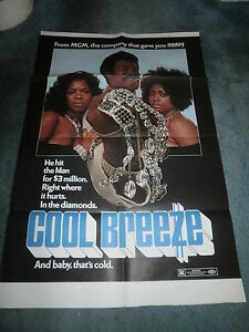 COOL BREEZE(1972)THALMUS RASULALA ORIGINAL ONE SHEET POSTER+