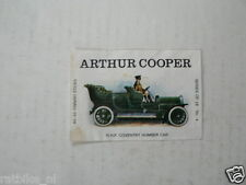 AC04 ARTHUR COOPER LUCIFERS,MATCHBOX LABELS OLDTIMER CAR 15 HP COVENTRY HUMBER