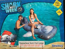 DISCOVERY HAMMERHEAD SHARK WEEK INFLATABLE POOL RAFT LOUNGE CHAIR FLOAT JAWS