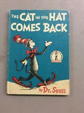 Vintage Dr. Suess book club edition 1958 The Cat In The Hat Comes Back Children