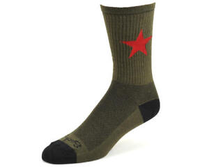 "Sockguy 6"" Wool Socks (Red Star)"