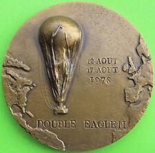 MEDAILLE DOUBLE EAGLE II TRAVERSEE DE L'ATLANTIQUE EN BALLON