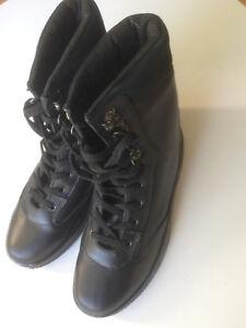 Women's Men Barry Lea work boots shoes size 8/9 black leather RRP 89.90 AUD