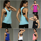 Sexy Women's Tank Tops Blouse Loose Sleeveless Shirt Gym Yoga Vest Training Run