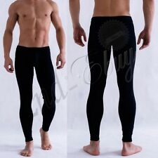 Sexy Men's Low Rise Bulge Pouch Long Johns Thermal Pants Leggings Underpants #L