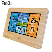 FanJu FJ3373W Wireless Weather Station Color Forecast with Temperature Humidity