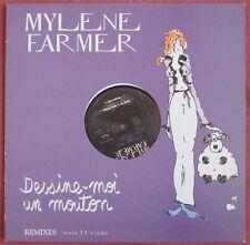 """MYLENE FARMER - MAXI PROMO VINYL (12"""") """"DESSINE-MOI UN MOUTON"""""""