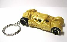2017 Hot Wheels Mystery Models Gold Batmobile Treasure Custom Key Chain Ring!