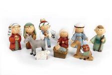10 Piezas lindo Dibujos animados Natividad Escena Resin Figure Set 6CM Regalo De Navidad Niño Niño