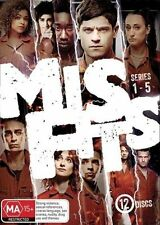 Misfits : Series 1-5 (DVD, 12-Disc Set) NEW