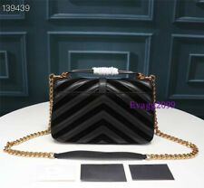Satchels Bag Vintage Chain Messenger Bag Large Women School Crossbody Bags Black