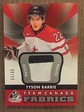 2012-13 SP GAME USED - TYSON BARRIE TEAM CANADA FABRICS #TC-23 PATCH 13/35