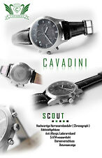 Cavadini Series Scout Sporty Luxury Chronograph Mens Watch with Ch - eta-werk