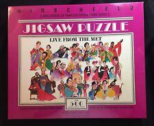 1982 Al Hirschfeld Jigsaw Puzzle Live From the Met Metropolitan Opera SEALED