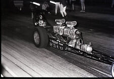 'Freight Train' Twin Engine Dragster - Vtg 35mm Drag Racing Negative