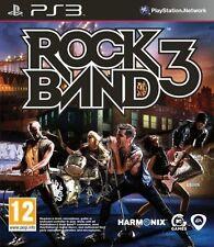 Rock Band 3 [PlayStation 3 PS3, Region Free, Guitar Music Singing, David Bowie]