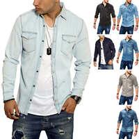 Jack & Jones Herren Jeanshemd Freizeithemd Herrenhemd Denim Shirt Langarmhemd